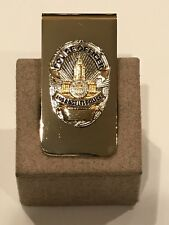 "LAPD / LEO /  - LOS ANGELES POLICE  - 2"" by 1"" - BRASS MONEY CLIP -"