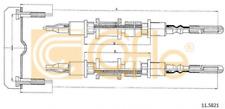 COFLE Seilzug, Feststellbremse für Bremsanlage 11.5821