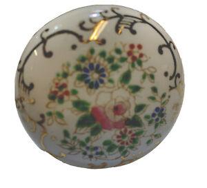 Antique Porcelain  Hand Painted Floral Door Knob