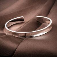 Hot Selling Fashion Jewelry Silver Plated Women Cuff Bangle Charm Bracelet Gift