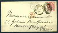 Grossbritannien 1874 Brief 40% London, FEIO, PD, Paris