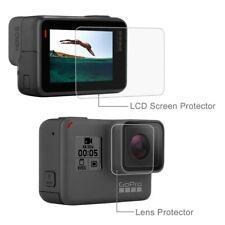 1x HD Hartglas SET GoPro Hero 6 / 5 Schutz Folie Zubehör LCD und Linse Hülle