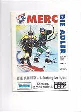 DEL PLAY OFF: ADLER MANNHEIM - NÜRNBERG ICE TIGERS 03.03.1996, Eishockey 95/96