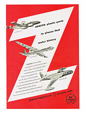 1953 AD ZENITH PLASTIC PARTS IN PLANES THAT MAKE HISTORY. LOCKHEED WV-2