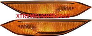 FIT PORSCHE CAYENNE 2011-2014 LEFT RIGHT FRONT SIDE MARKER LIGHTS LAMPS NEW PAIR