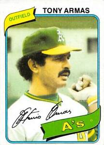 trading card Topps A'S 1980 TONY ARMAS  #391