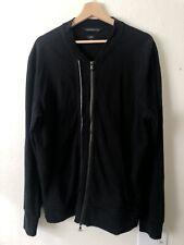 John Varvatos Star USA Men's Double-Zip Knit Jacket Black SZ Large Peru $298