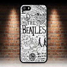 Los Beatles Doodle teléfono caso IPHONE 4 4S 5 5S SE 5C 6S 7 8 Plus X 6