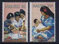 1989 NAURU CHRISTMAS SET OF 2 FINE MINT MNH/MUH