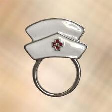 Glasses / Spectacle Crystal Nurse Hat Hospital Retainer Hanger Brooch Pin Holder