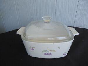 corning ware plum casserole dish plum 1-1.5lt 1.5lt