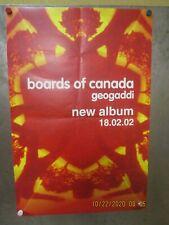 BOARDS OF CANADA Geogaddi Promo Poster Warp Records 2002 RARE