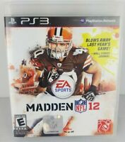 Sony PlayStation 3 PS3 Madden NFL 12 Complete