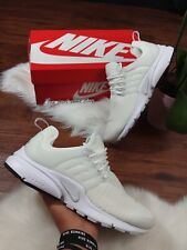 * 10 Women's | 8.5 men's NIKE AIR PRESTO WHITE 878068 100 Casual Running Shoes