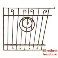 Antique Victorian Iron Gate Window Garden Fence Architectural Salvage Door #47