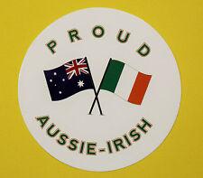 PROUD AUSSIE - IRISH AUSTRALIAN STICKER VINYL DECAL CAR UTE TRUCK CARAVAN