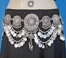 ShowStopper Coin Tassel BELT Kuchi Tribal Belly Dance Ats Skirt Costume Jewelry