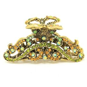 New vintage multi elegant bling rhinestone metal hair accessories hair claw pin