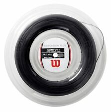 (0,55 €/M) Wilson Sensation Plus 17 Black 1,28 mm 200 M Tennis Strings