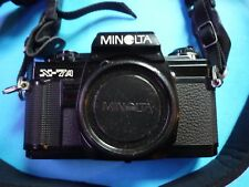 MINOLTA X-7A CAMERA BODY ONLY IN BLACK WITH TAMRAC STRAP WITHOUT LENSES A1 SHAPE