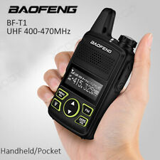 Mini Baofeng T1 Walkie Talkie UHF 400-470MHZ 20 Kanäle FM Funkgerät CTCSS DCS