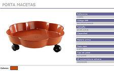Portavaso porta cachepot  in plastica con ruote, diametro cm35 made in Spagna