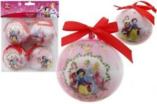 Pack of 4 Disney Princess 8cm Christmas Tree Decorations, Baubles, NEW