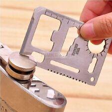 11in1 Edelstahl Kreditkarte Messer Multitool Outdoor Überleben Camping Werkzeug