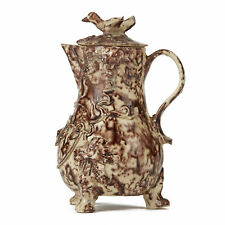 More details for whieldon cream ware lidded pottery milk jug c.1750-80