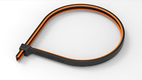 """Grip Lock Ties GripLockTies 8"""" Orange Rubber 40 Pack Re-Usable GLT2908BKOGHB40"""