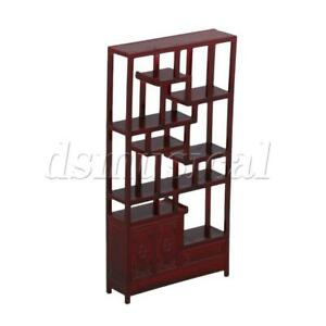 Architectural Model Chinese Style Shelf 1:25 Red Wood Color