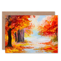 Autumn Forest Landscape Card With Envelope