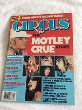 Motley Crue Magazine Circus Special The Story Of Rare