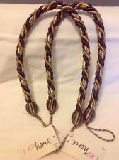 Curtain Cord Tassel Set of 2 NWT Brown Multi