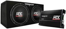 MTX Terminator TNP212D2 400 Watts RMS  Dual 12 inch Sub Box AND Amplifier