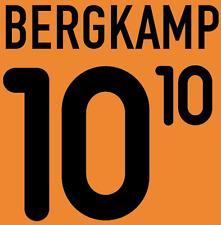 Holland Bergkamp local 2000 Camisa Fútbol Fútbol De Impresión De Calor Número Letra H