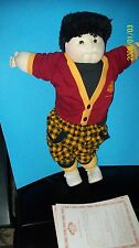 SOFT SCULPTURED CABBAGE PATCH KID! ASIAN boy  AMBER ED 1989