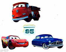"""2"""" DISNEY CARS MCQUEEN RED  MINI SET CHARACTER  PEEL STICK WALL BORDER CUT OUT"""