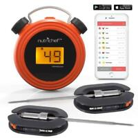 New NutriChef PWIRBBQ60 Bluetooth Wireless BBQ Digital Thermometer