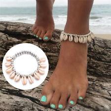 Boho Women Bead Shell Anklet Ankle Bracelet Barefoot Sandal Beach Foot Jewelry >