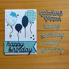 """CLEARANCE"" DIE-NAMICS HAPPY BIRTHDAY SENTIMENT CUTTING DIES 2PCE - BNIP"