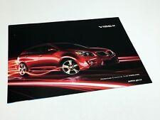 2009 Pontiac Vibe Information Sheet Brochure