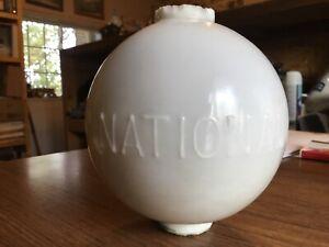 White NATIONAL lightening Rod Globe