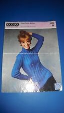 Patons Women's Sweater Knitting Pattern 9604