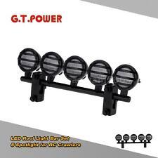 G.T.POWER LED Roof Light Bar Set 5 Spotlight for 1/10 RC Crawlers Black