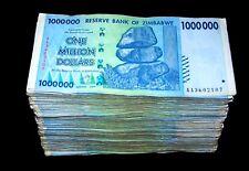 500 x Zimbabwe 1 Million Dollar banknotes- 2008 AA/AB mixed-5 bundles