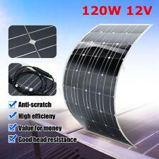 120W 12V Elfeland Mono Semi Flexible Solar Panel Battery Charger For Car RV Boat