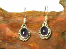 AMETHYST   Sterling  Silver  925  Gemstone  EARRINGS  -  Gift  Boxed