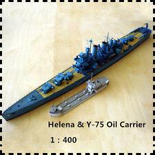 1:400 Scale USS Helena Light Cruiser Y-75 Oild Carrier Handcraft Paper Model Kit