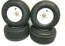 4-18x8.50-8 Golf Tires 5 LUG Wheels For Golf Cart Carts Taylor Dunn EzGo Cushman